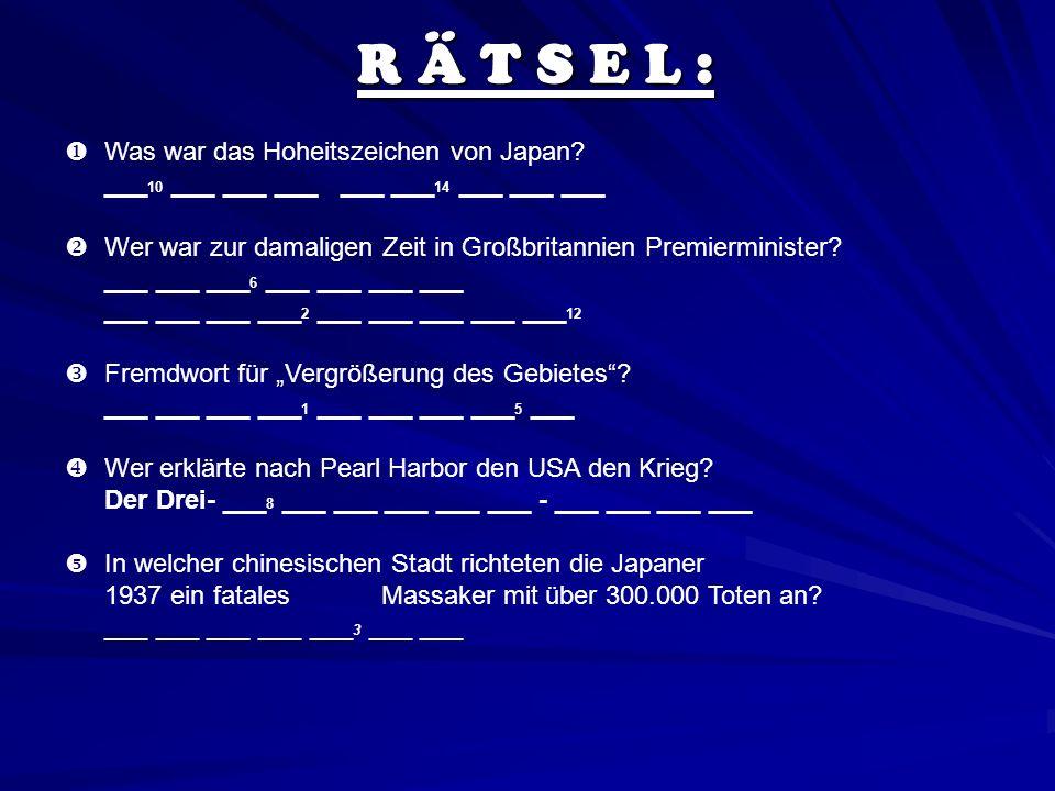 R Ä T S E L :  Was war das Hoheitszeichen von Japan
