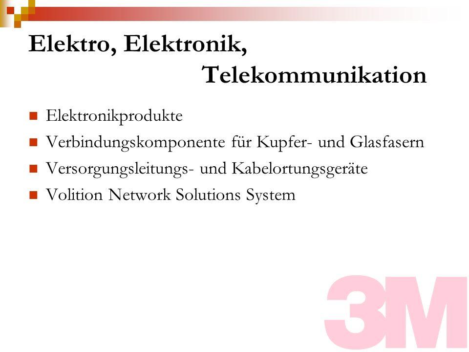 Elektro, Elektronik, Telekommunikation