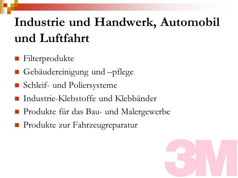 Industrie und Handwerk, Automobil und Luftfahrt