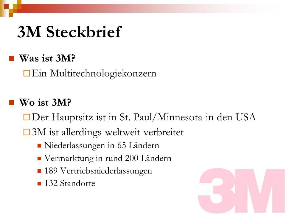 3M Steckbrief Was ist 3M Ein Multitechnologiekonzern Wo ist 3M