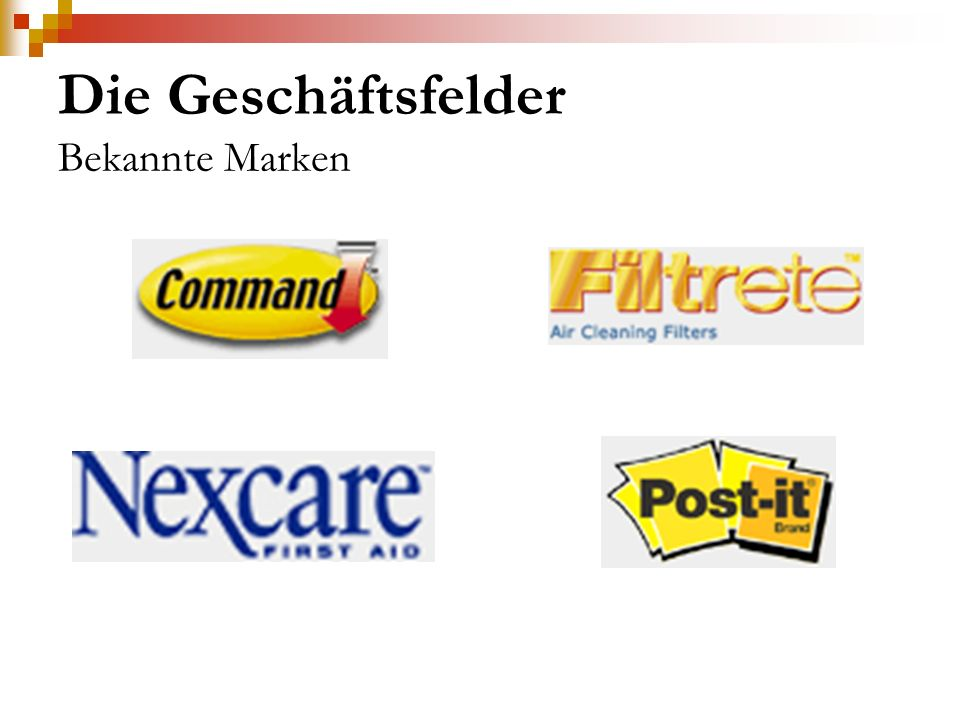 Die Geschäftsfelder Bekannte Marken