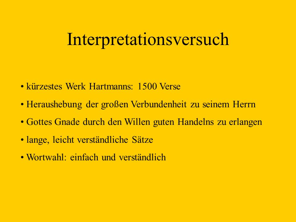 Interpretationsversuch