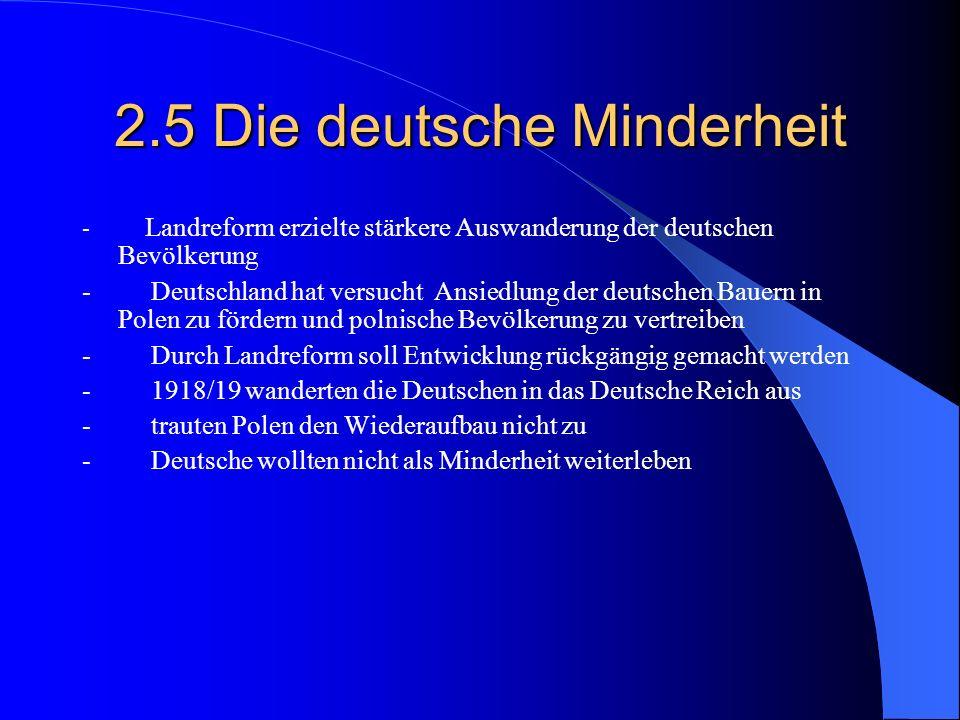 2.5 Die deutsche Minderheit