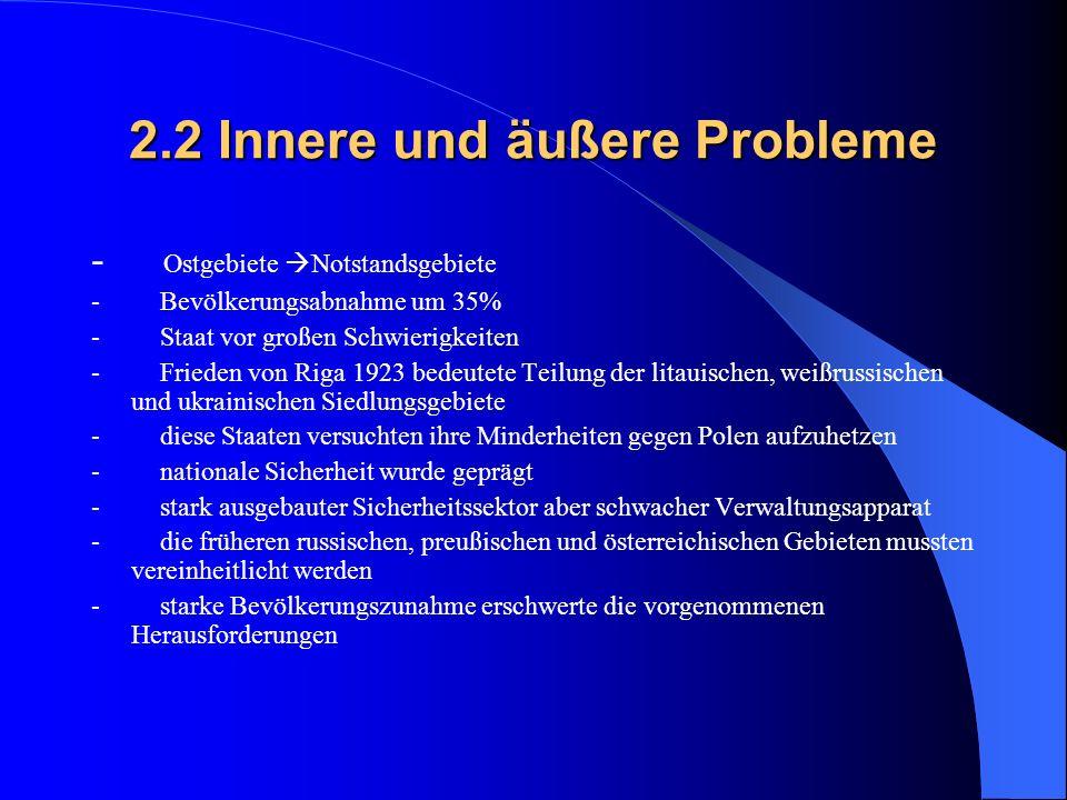 2.2 Innere und äußere Probleme