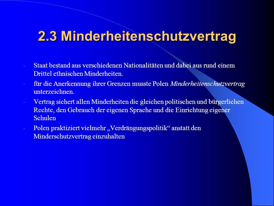 2.3 Minderheitenschutzvertrag