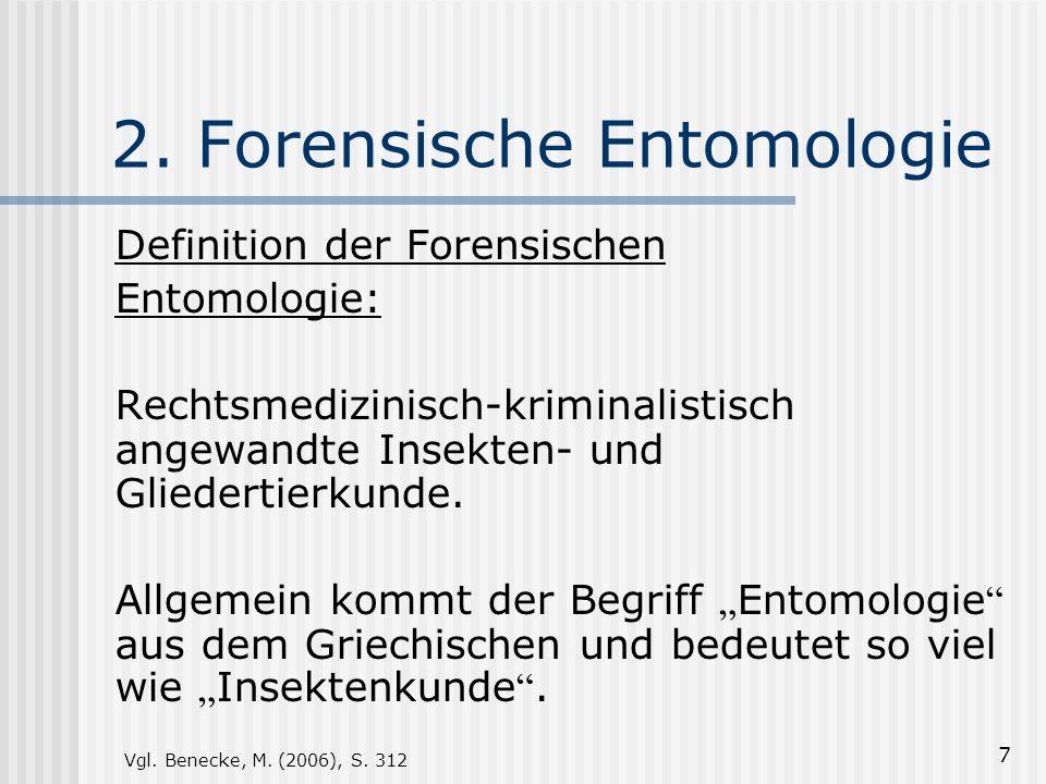 2. Forensische Entomologie