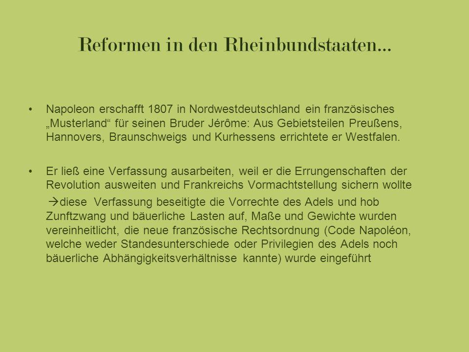 Reformen in den Rheinbundstaaten…
