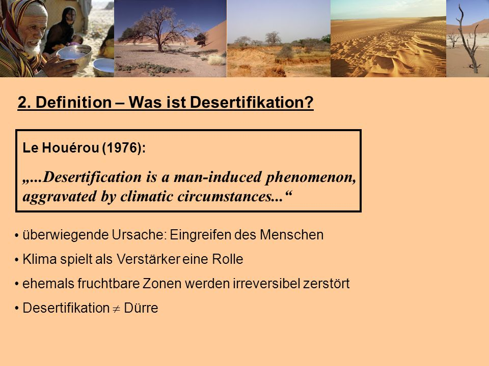 2. Definition – Was ist Desertifikation