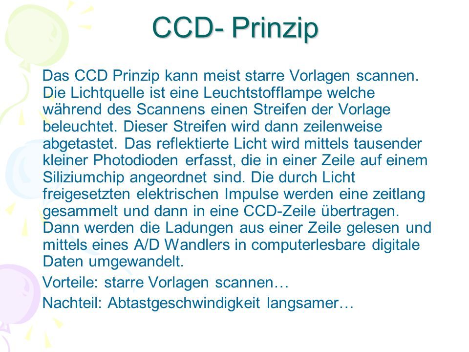CCD- Prinzip