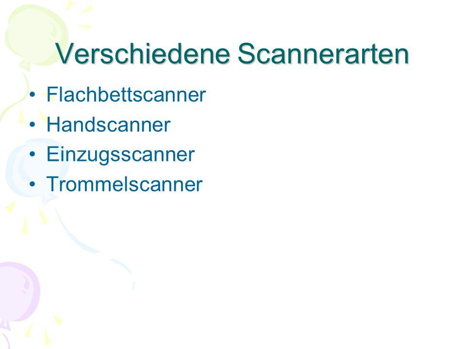Verschiedene Scannerarten