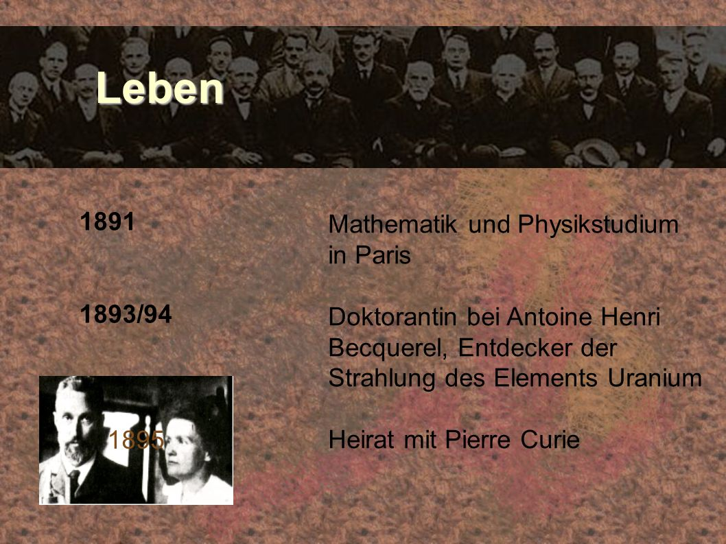 Leben 1891 Mathematik und Physikstudium in Paris 1893/94