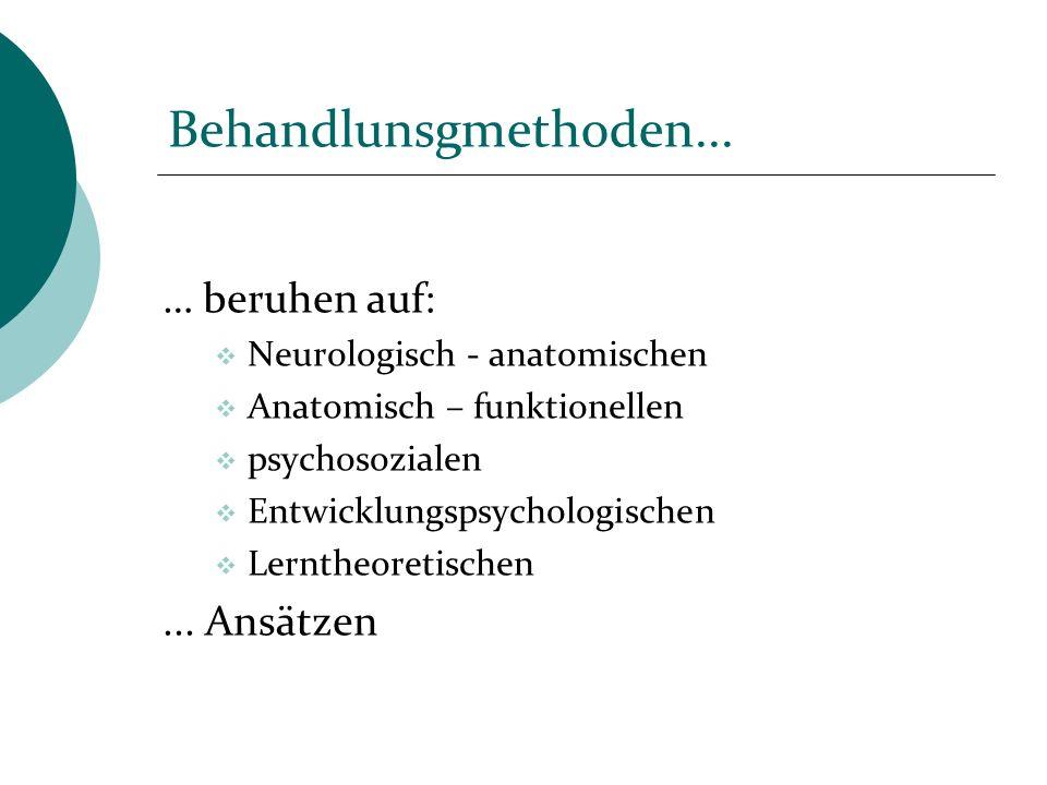 Behandlunsgmethoden... … beruhen auf: ... Ansätzen