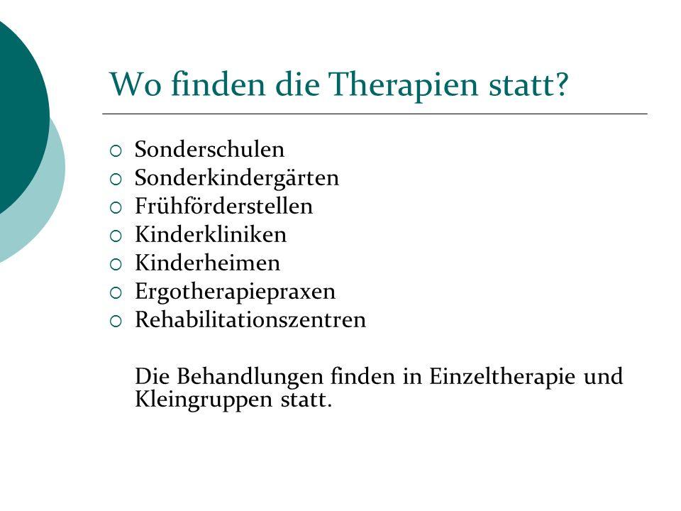 Wo finden die Therapien statt