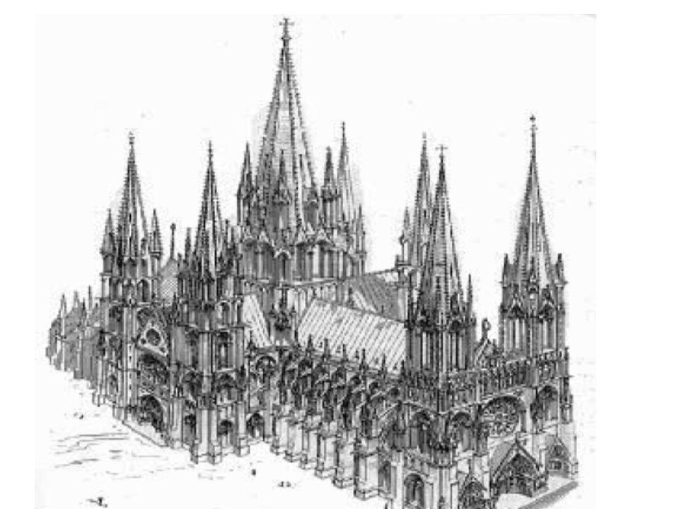 Gotik – Merkmale Spitzbögen, Kreuzrippengewölbe, Strebepfeiler