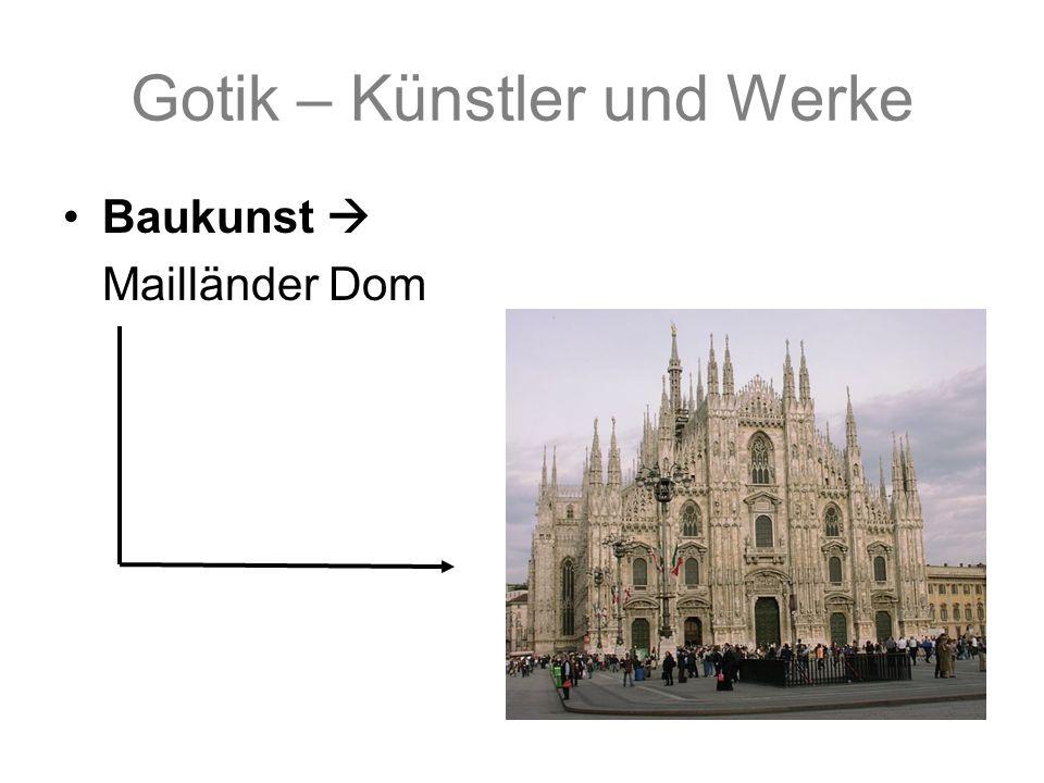 Gotik – Künstler und Werke