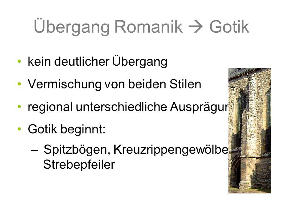 Übergang Romanik  Gotik