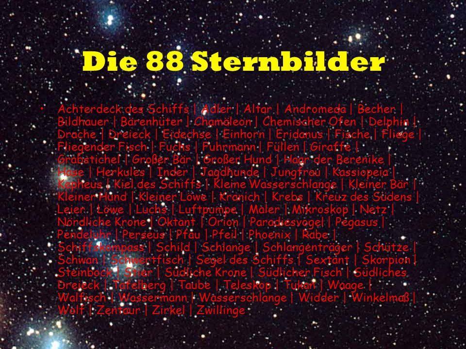 Die 88 Sternbilder