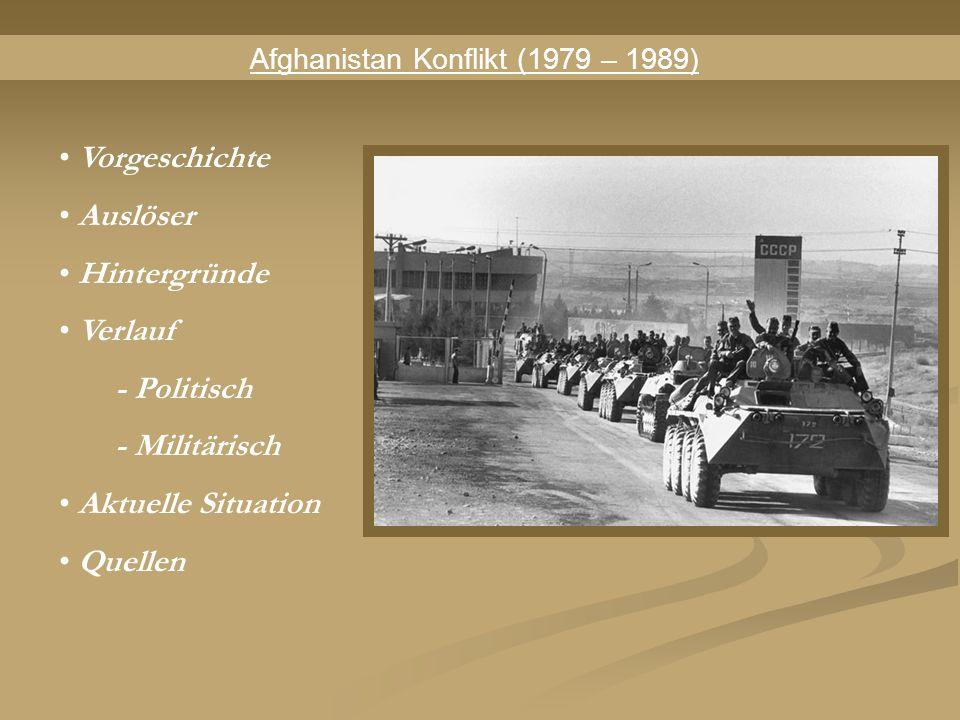 Vorgeschichte Auslöser Hintergründe Verlauf - Politisch - Militärisch