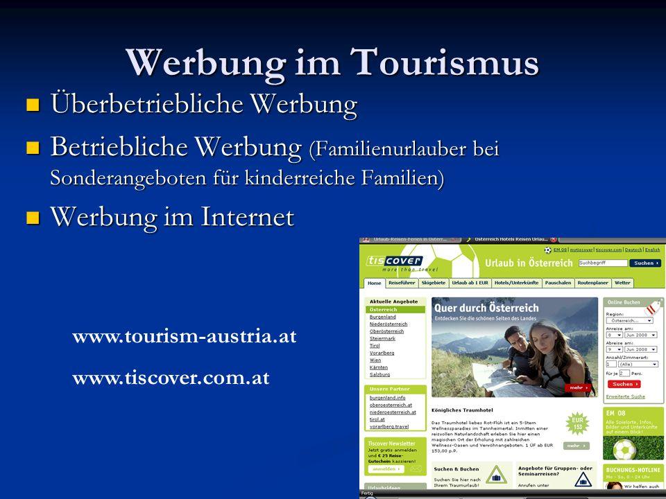Werbung im Tourismus Überbetriebliche Werbung