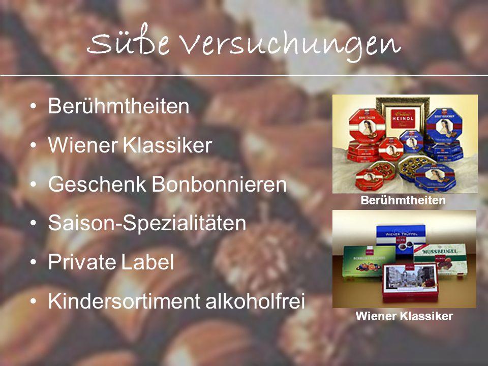 Süße Versuchungen Berühmtheiten Wiener Klassiker Geschenk Bonbonnieren