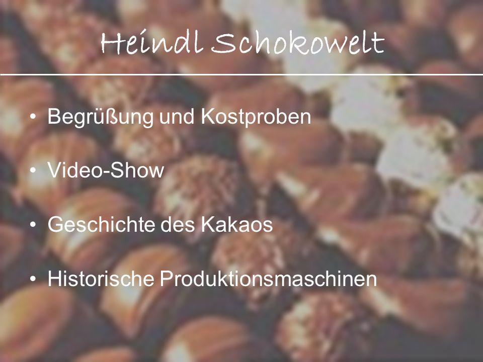 Heindl Schokowelt Begrüßung und Kostproben Video-Show