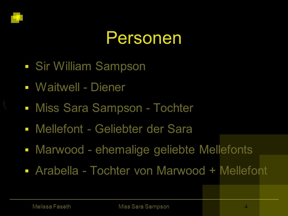 Personen Sir William Sampson Waitwell - Diener