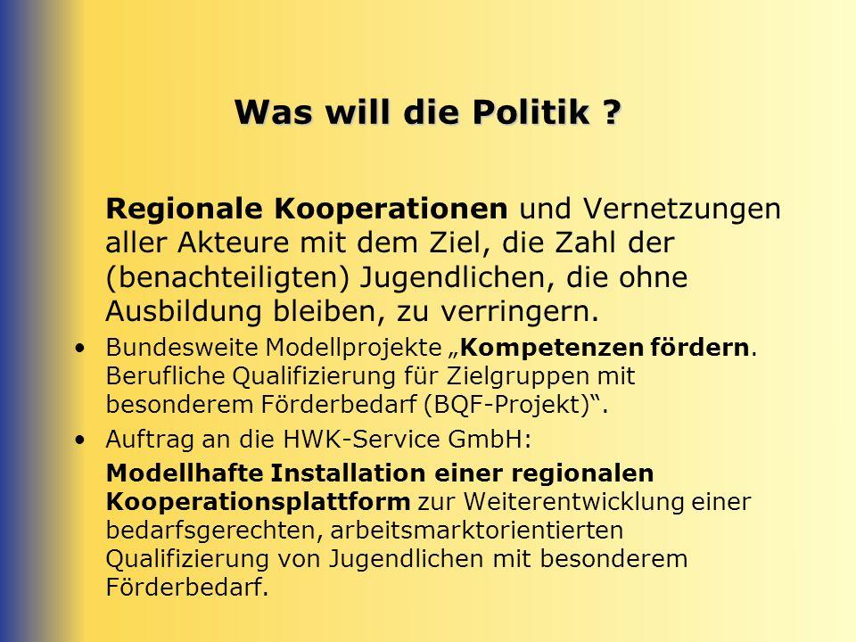 Was will die Politik