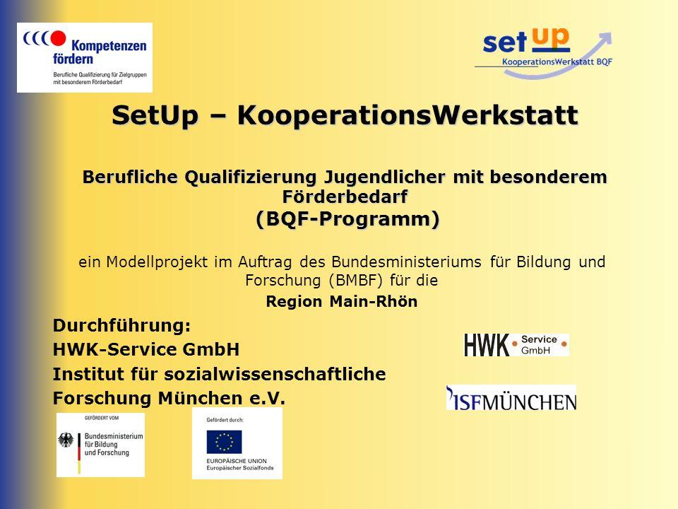 SetUp – KooperationsWerkstatt Berufliche Qualifizierung Jugendlicher mit besonderem Förderbedarf (BQF-Programm)