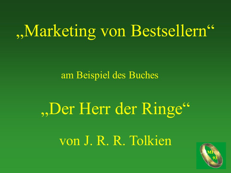 """Marketing von Bestsellern"