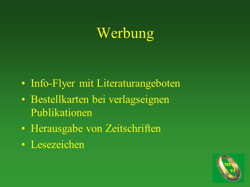 Werbung Info-Flyer mit Literaturangeboten