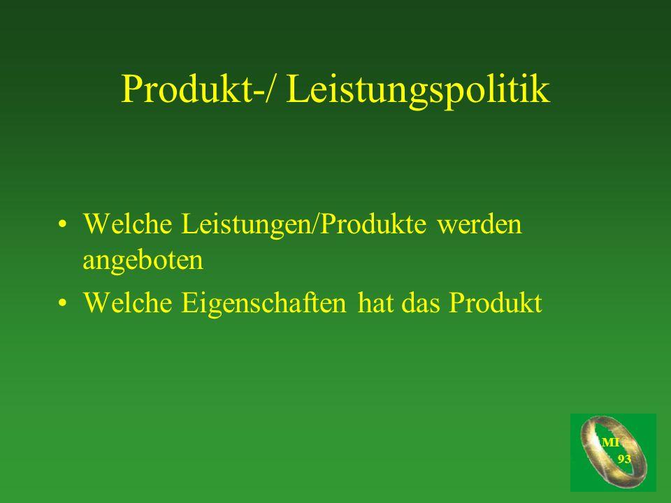 Produkt-/ Leistungspolitik