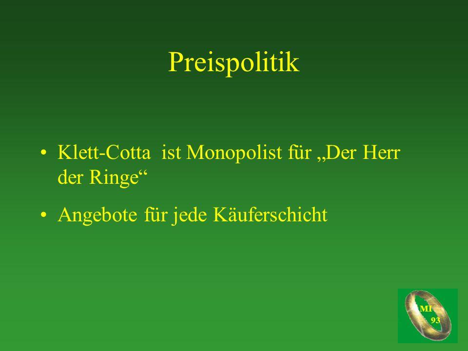"""Preispolitik Klett-Cotta ist Monopolist für """"Der Herr der Ringe"""