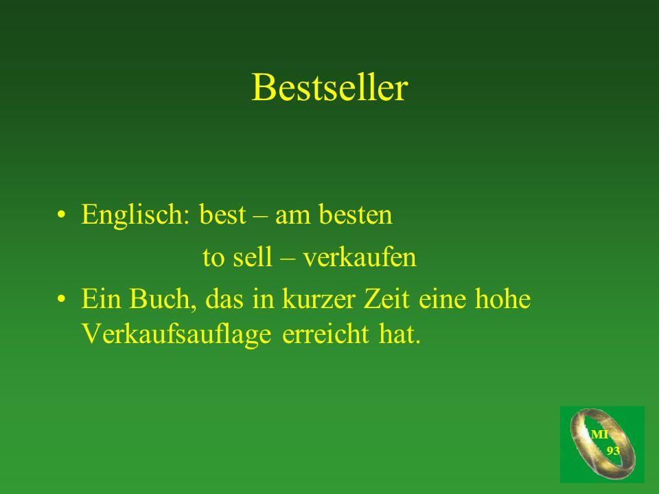 Bestseller Englisch: best – am besten to sell – verkaufen