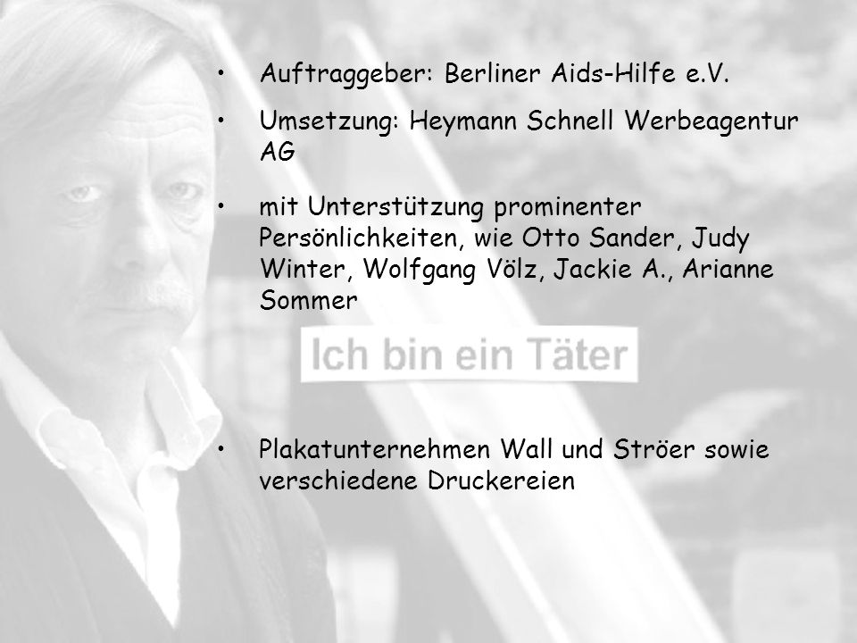 Auftraggeber: Berliner Aids-Hilfe e.V.