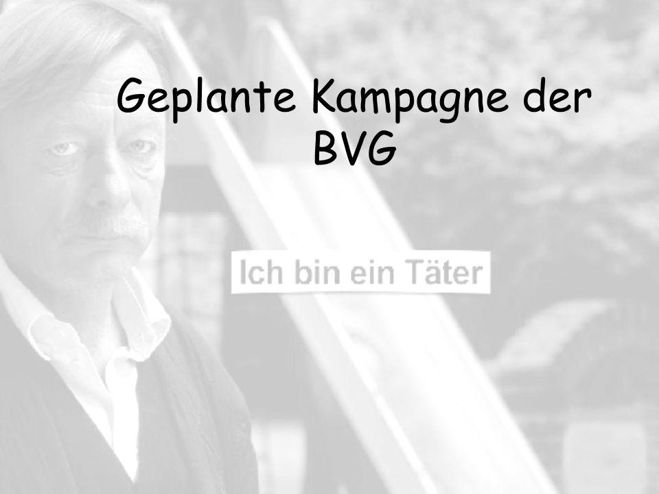 Geplante Kampagne der BVG