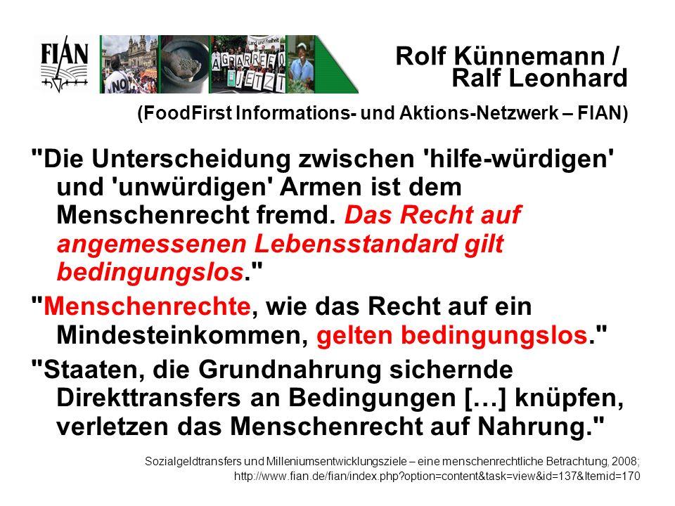 Rolf Künnemann / Ralf Leonhard (FoodFirst Informations- und Aktions-Netzwerk – FIAN)