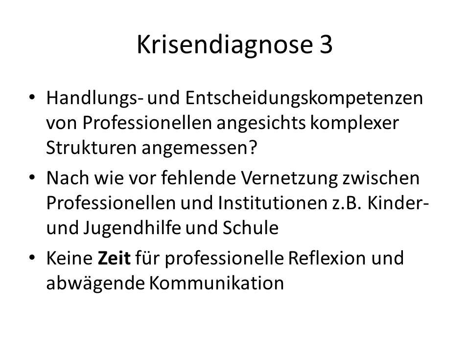 Krisendiagnose 3 Handlungs- und Entscheidungskompetenzen von Professionellen angesichts komplexer Strukturen angemessen