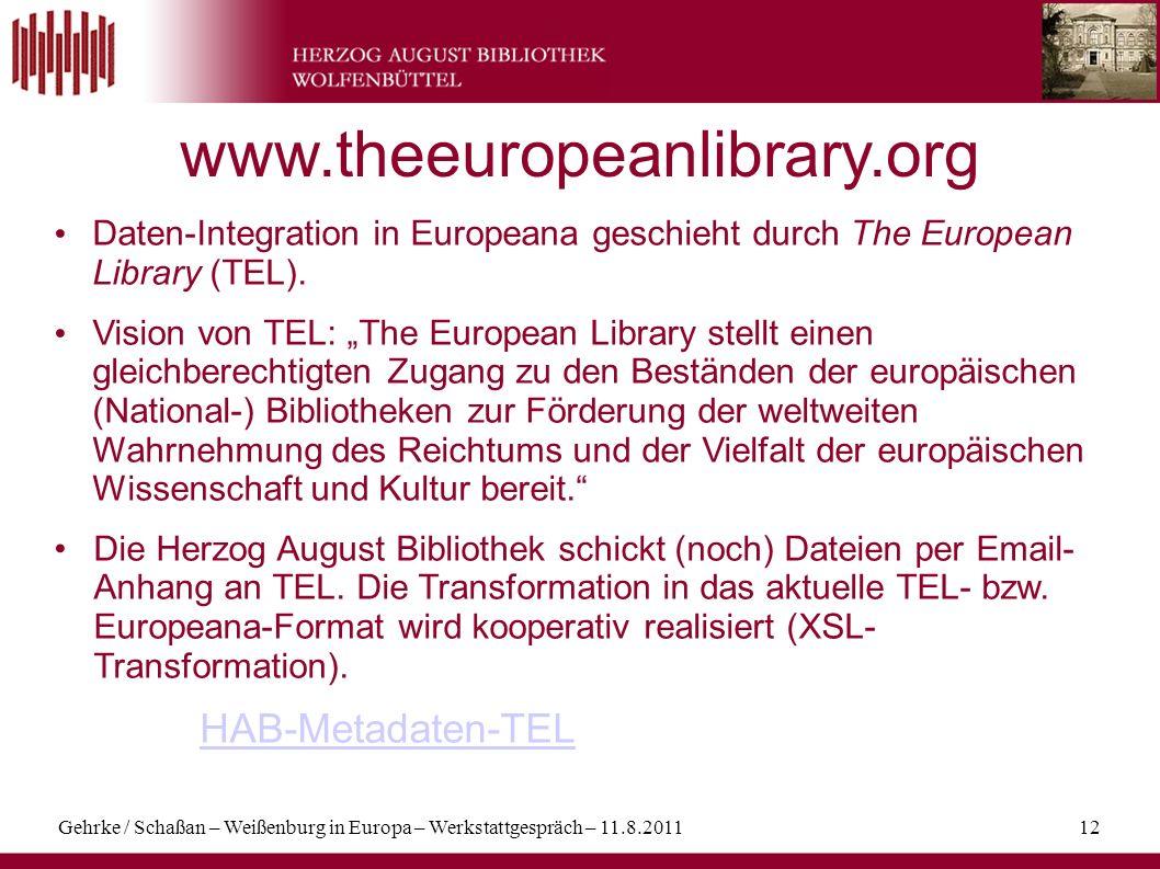 www.theeuropeanlibrary.org HAB-Metadaten-TEL