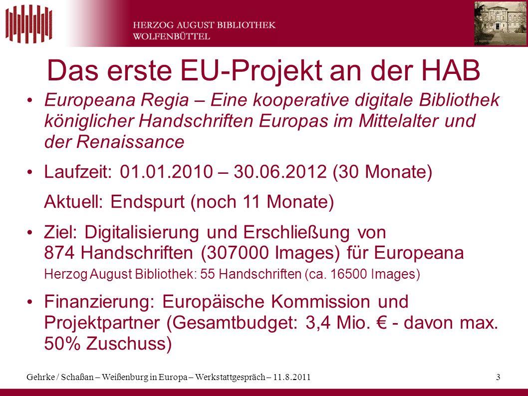 Das erste EU-Projekt an der HAB