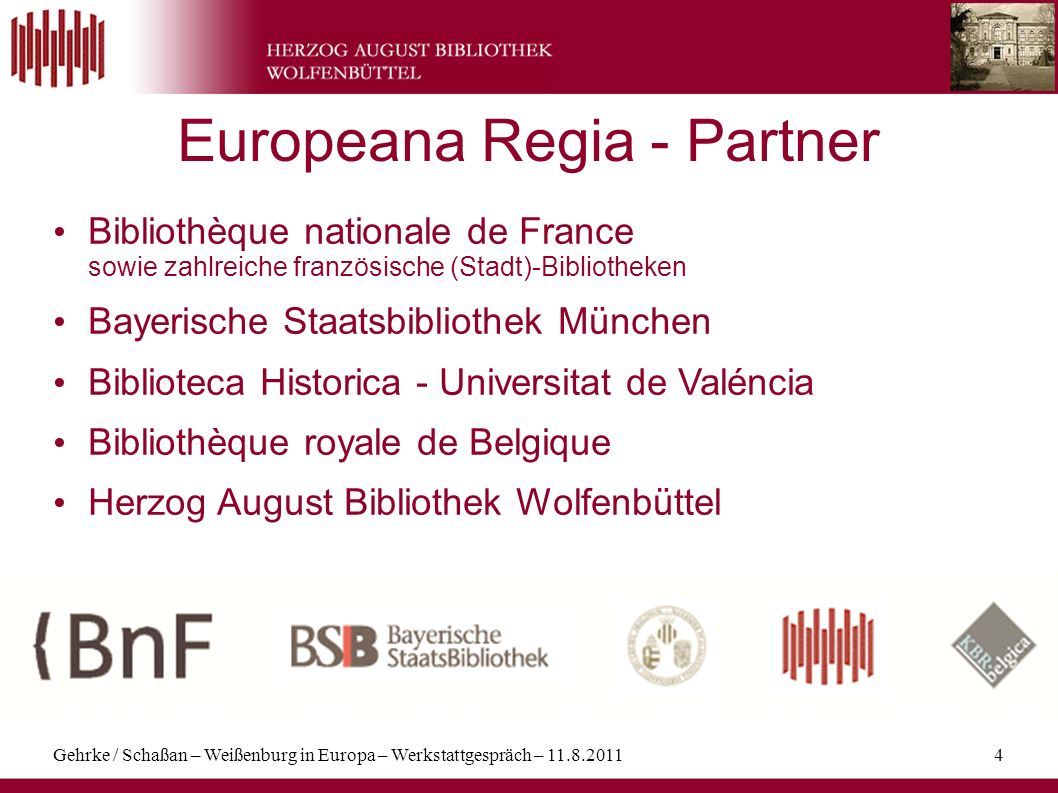 Europeana Regia - Partner