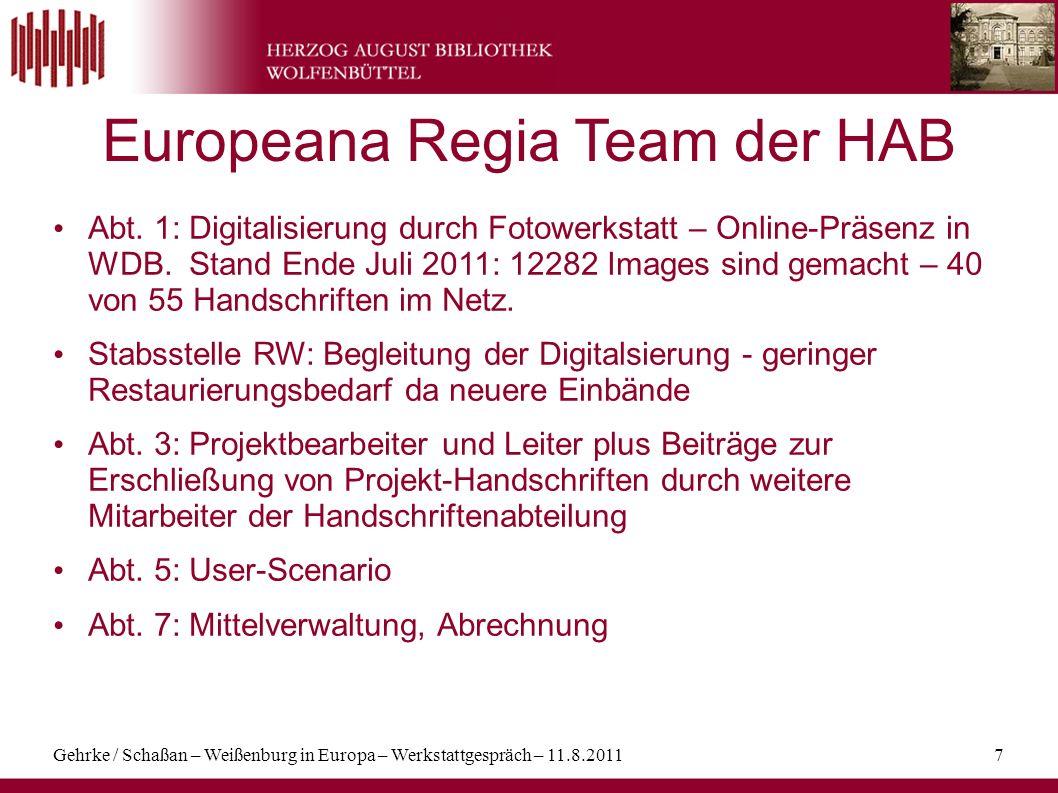 Europeana Regia Team der HAB