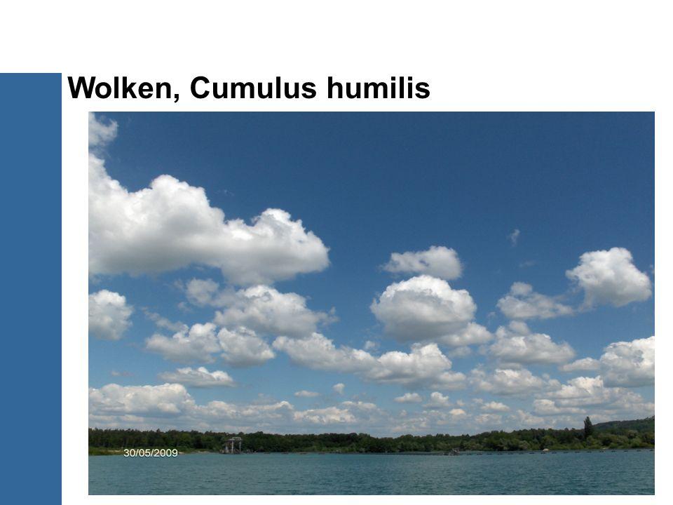 Wolken, Cumulus humilis