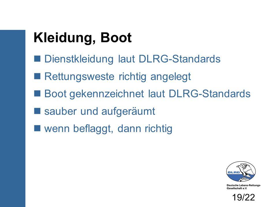 Kleidung, Boot Dienstkleidung laut DLRG-Standards