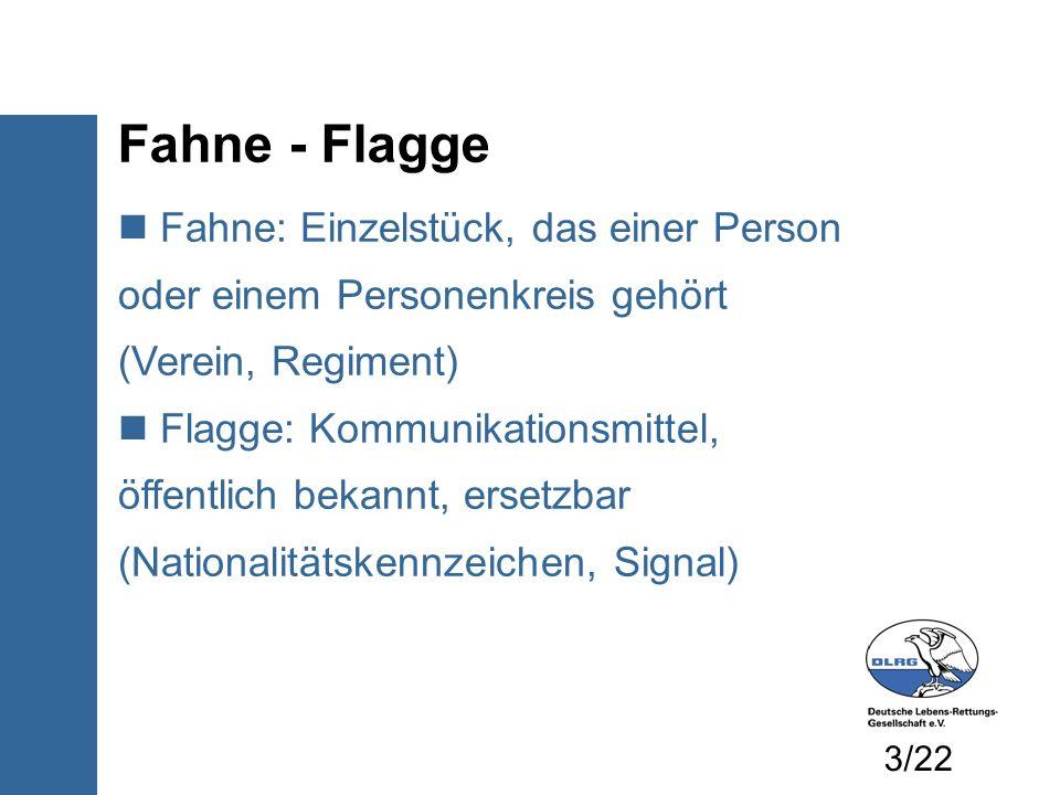 Fahne - Flagge Fahne: Einzelstück, das einer Person oder einem Personenkreis gehört (Verein, Regiment)