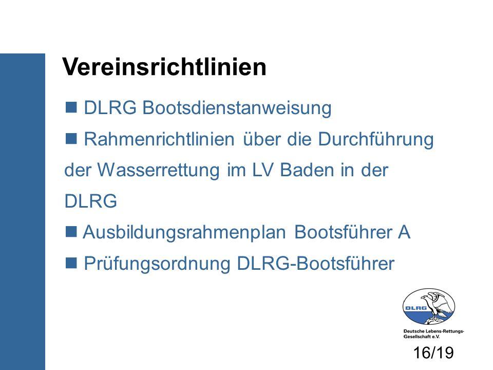 Vereinsrichtlinien DLRG Bootsdienstanweisung