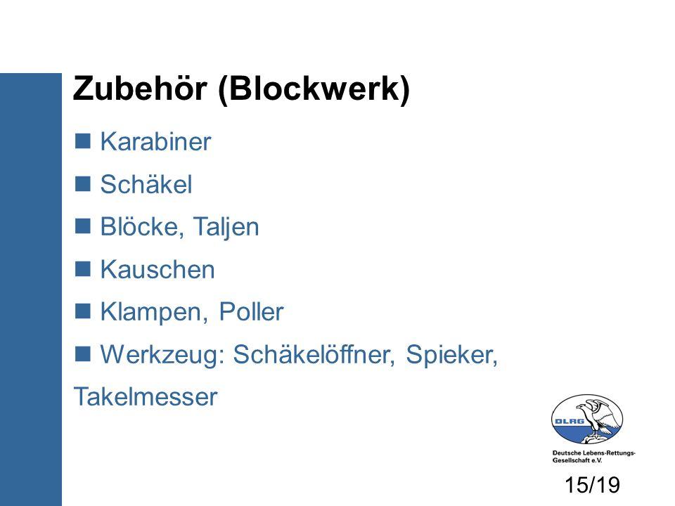 Zubehör (Blockwerk) Karabiner Schäkel Blöcke, Taljen Kauschen