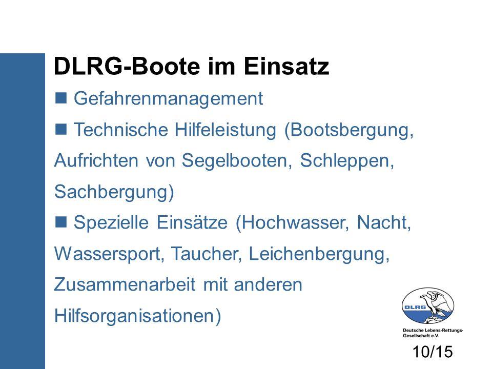 DLRG-Boote im Einsatz Gefahrenmanagement