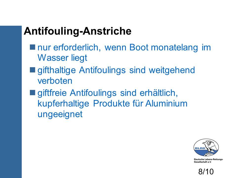Antifouling-Anstriche