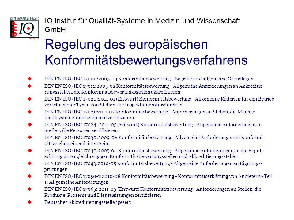 Regelung des europäischen Konformitätsbewertungsverfahrens
