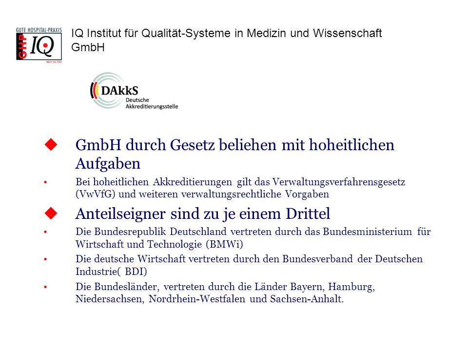 GmbH durch Gesetz beliehen mit hoheitlichen Aufgaben